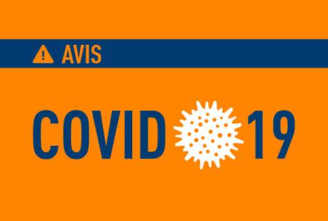 COVID19: Avis important à nos chers clients